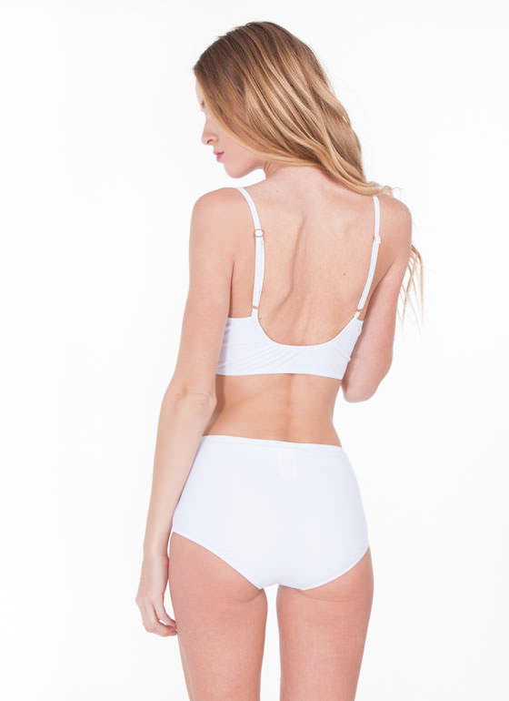 Retro Zippy Bikini WHITE (Final Sale)