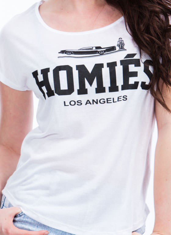 Rolling With Homies Graphic Tee WHITE