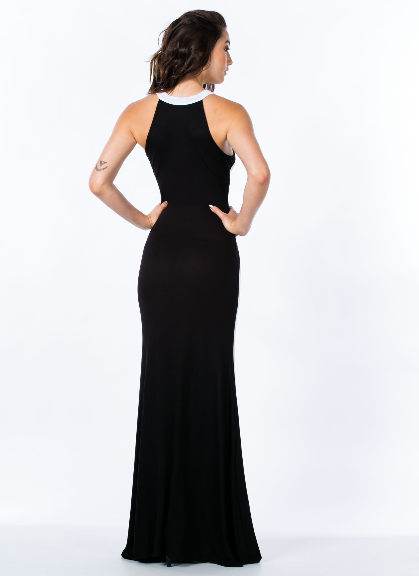 Hourglass Figure Mermaid Maxi WHITEBLACK