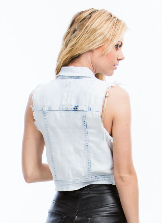 Let's Shred Denim Vest LTBLUE
