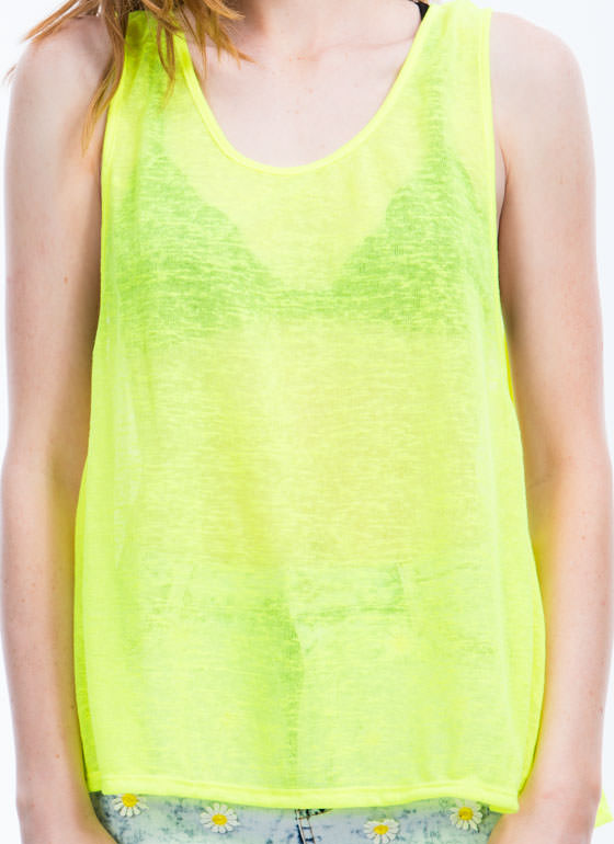 No Fuss Muscle Tank NEONYELLOW