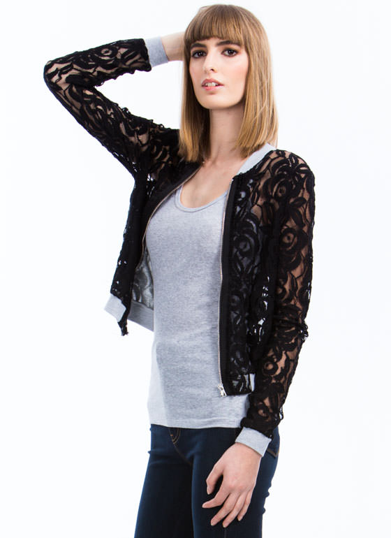 Lace Yourself Bomber Jacket BLACK (Final Sale)