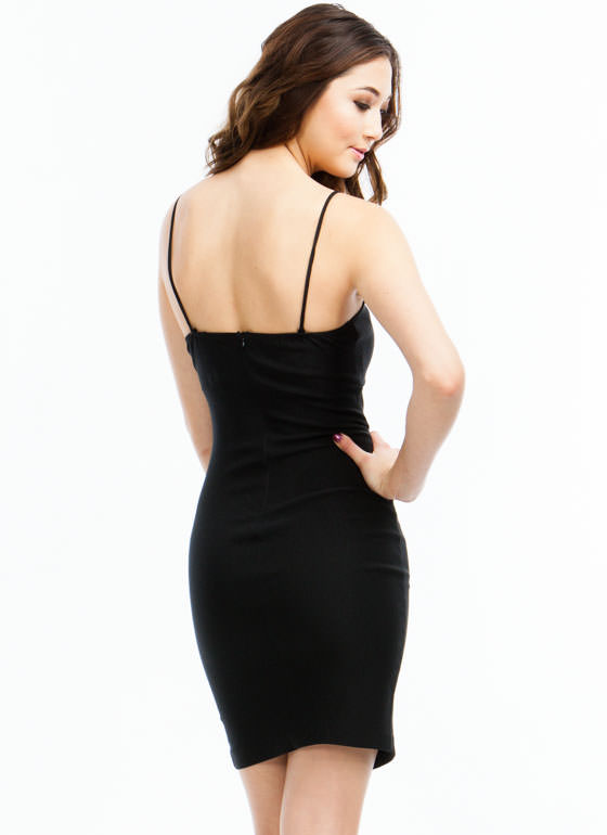 Millenium Cut-Out Dress BLACK