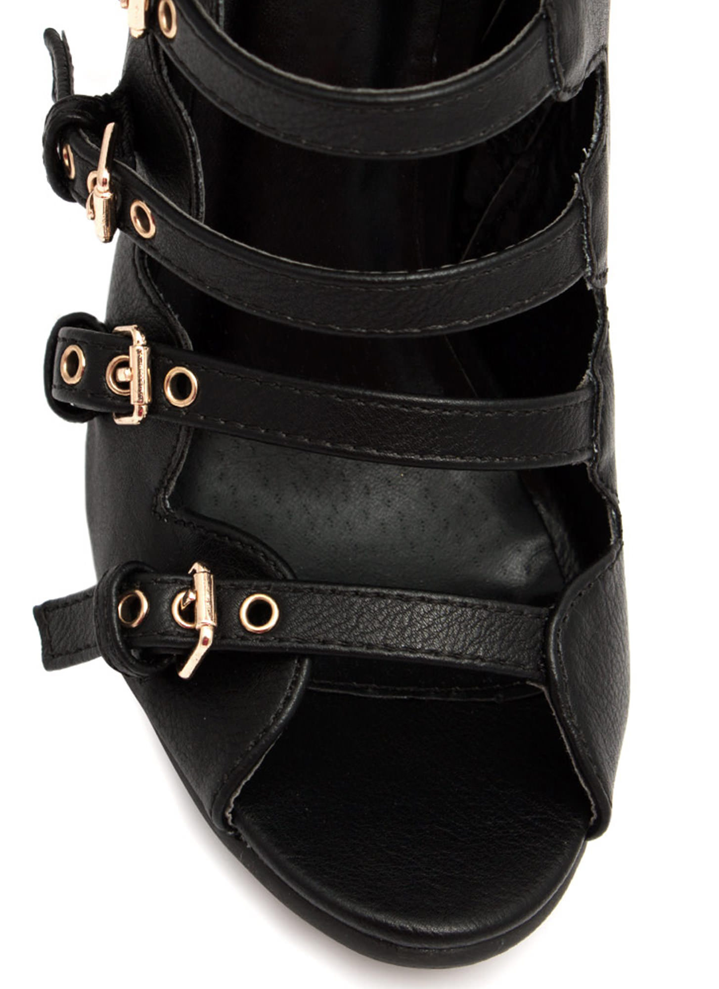 All Buckled Up Booties BLACK