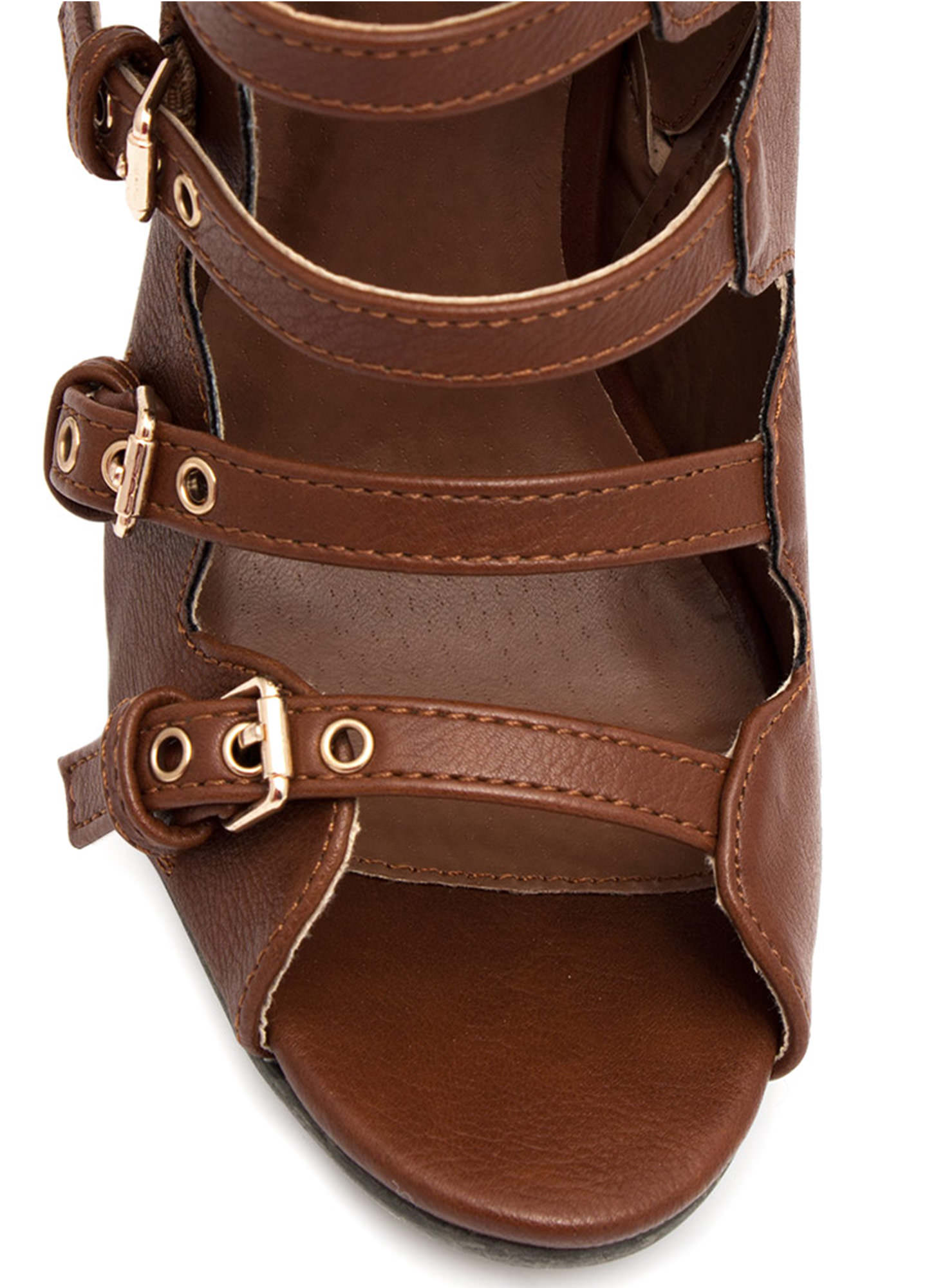All Buckled Up Booties WHISKY