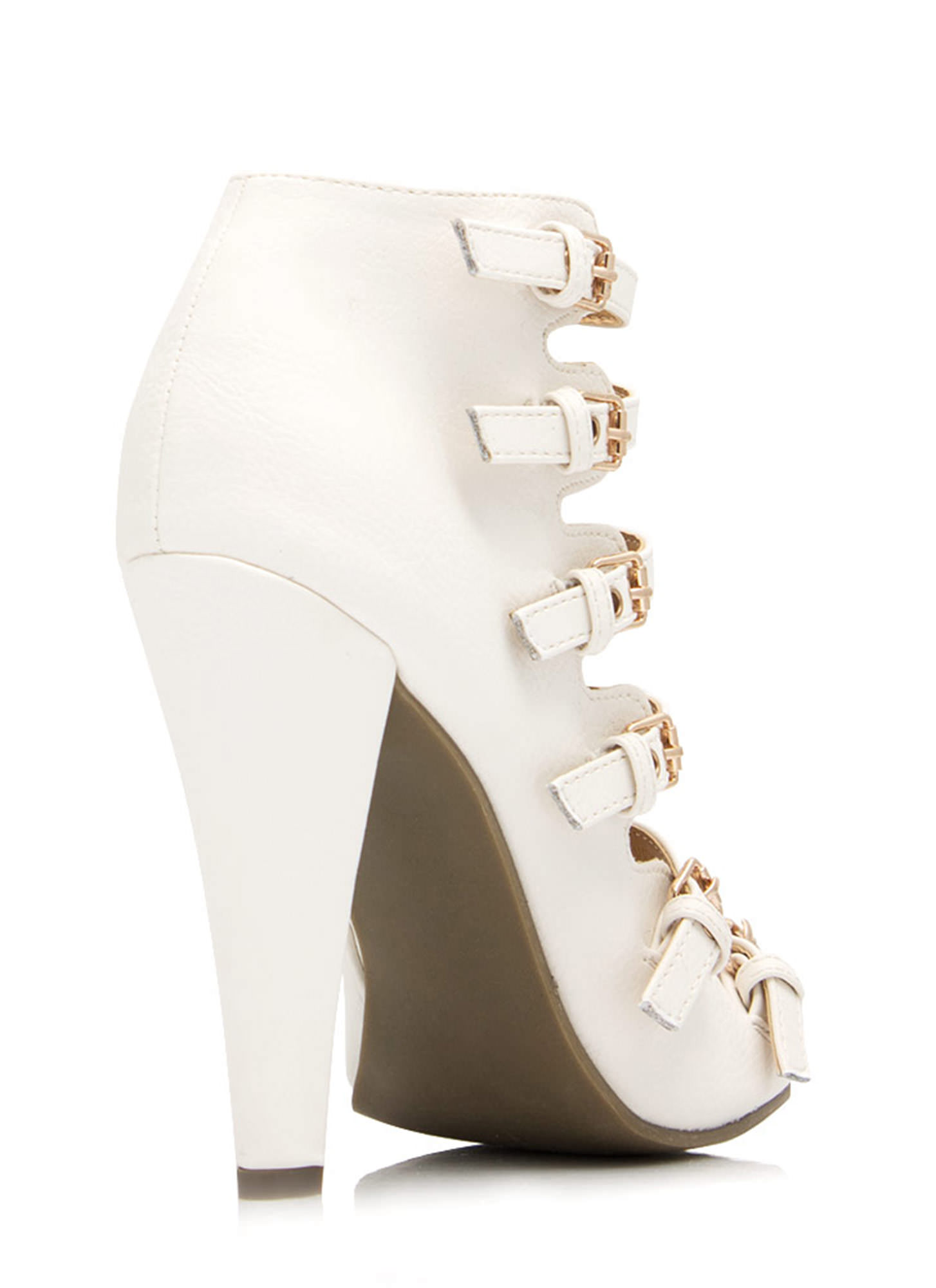 All Buckled Up Booties WHITE