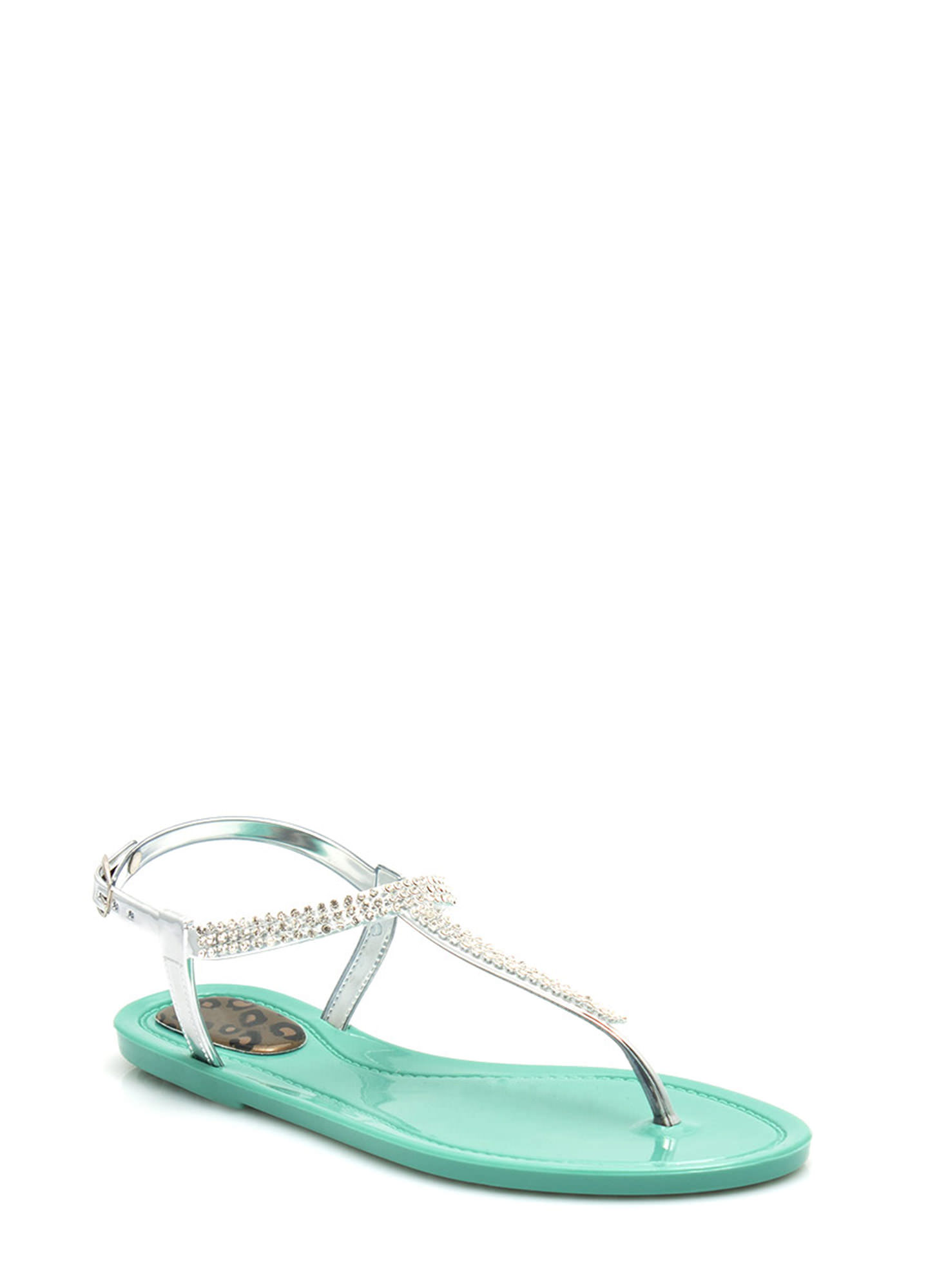 Glitz 'N Glimmer Jelly Sandals MINT