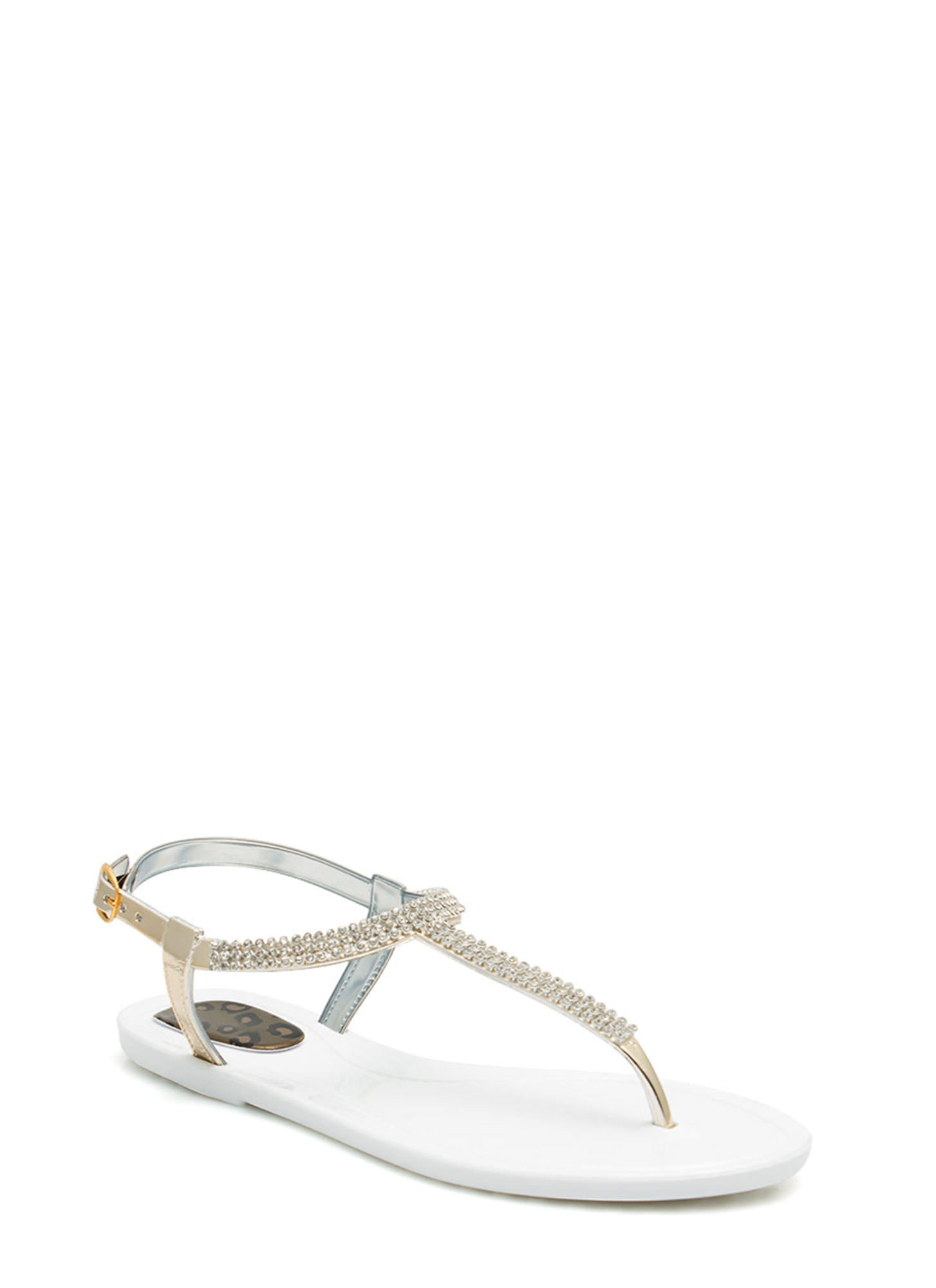 Glitz 'N Glimmer Jelly Sandals WHITE