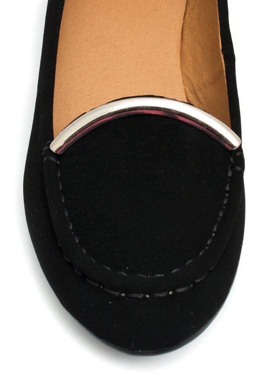 Touch Of Metallic Loafers  BLACK