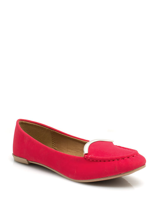 Touch Of Metallic Loafers  RASPBERRY