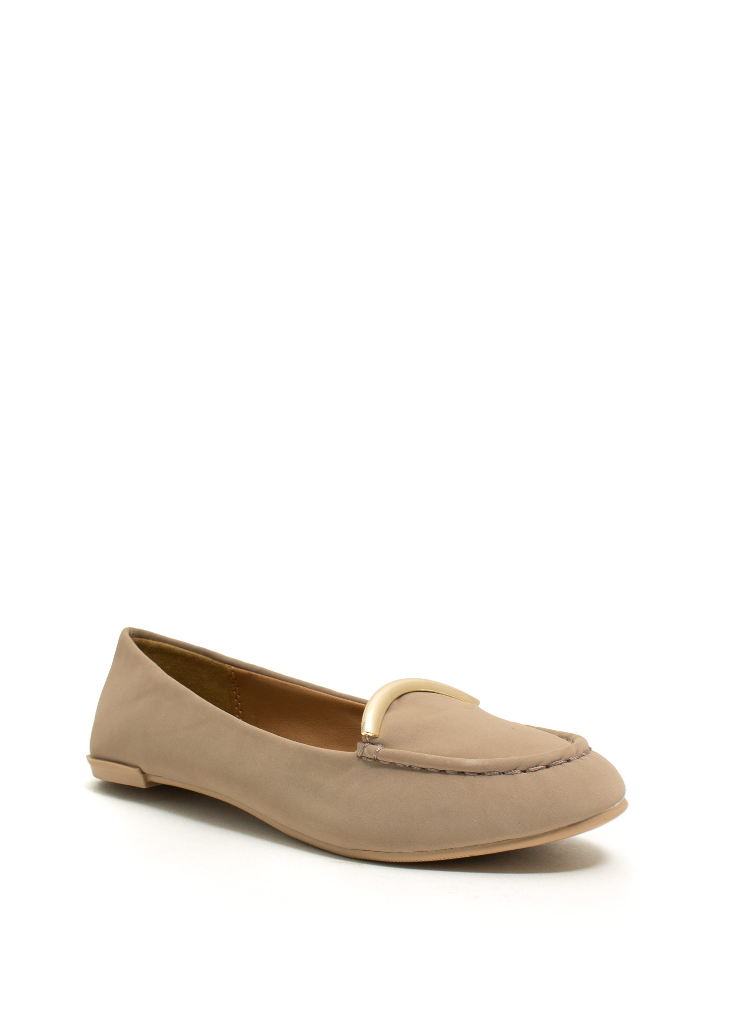 Touch Of Metallic Loafers  TAUPE
