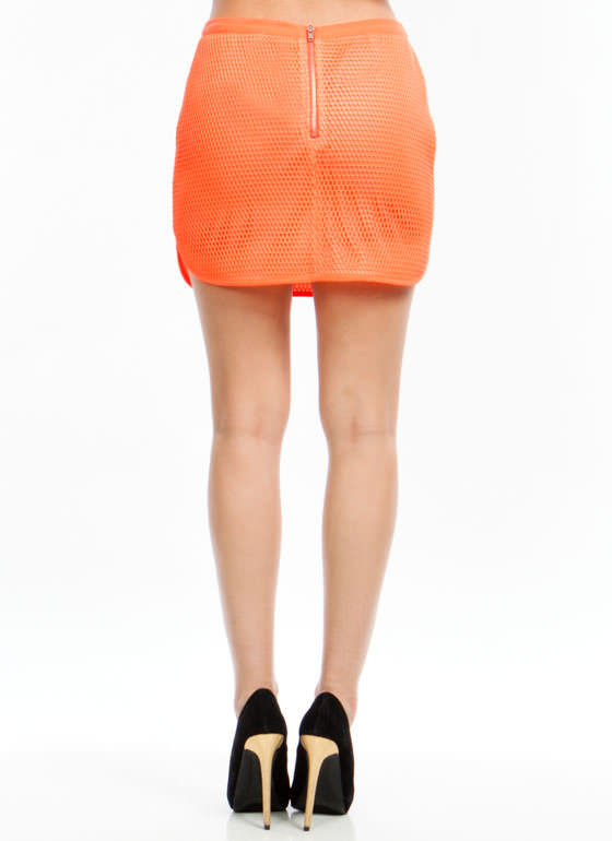 Catch Of The Day Skirt NEONORANGE (Final Sale)