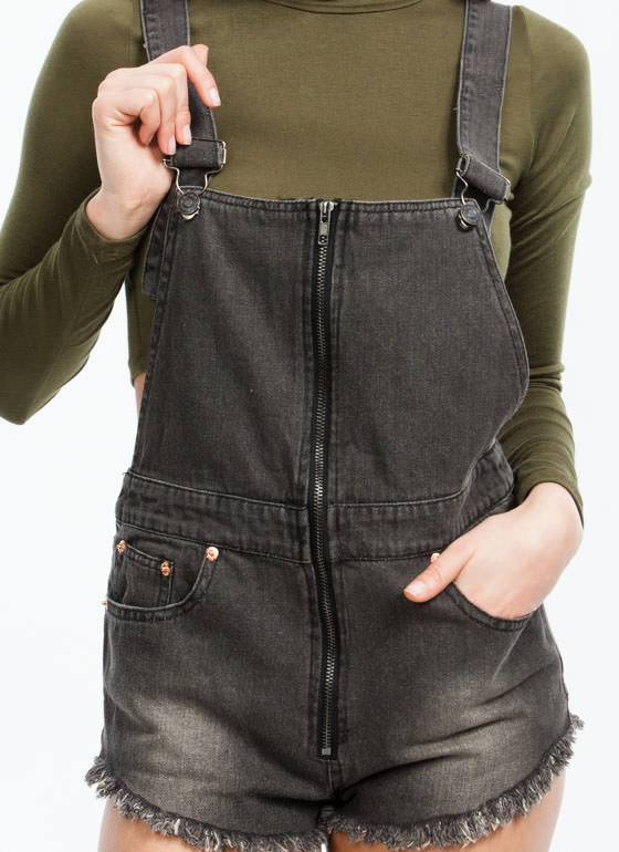 Crisscross Overall Shorts BLACK (Final Sale)