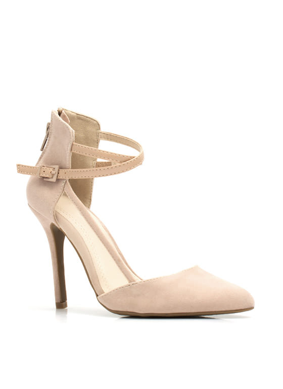 Mesh-tastic Pointy Pumps NUDE