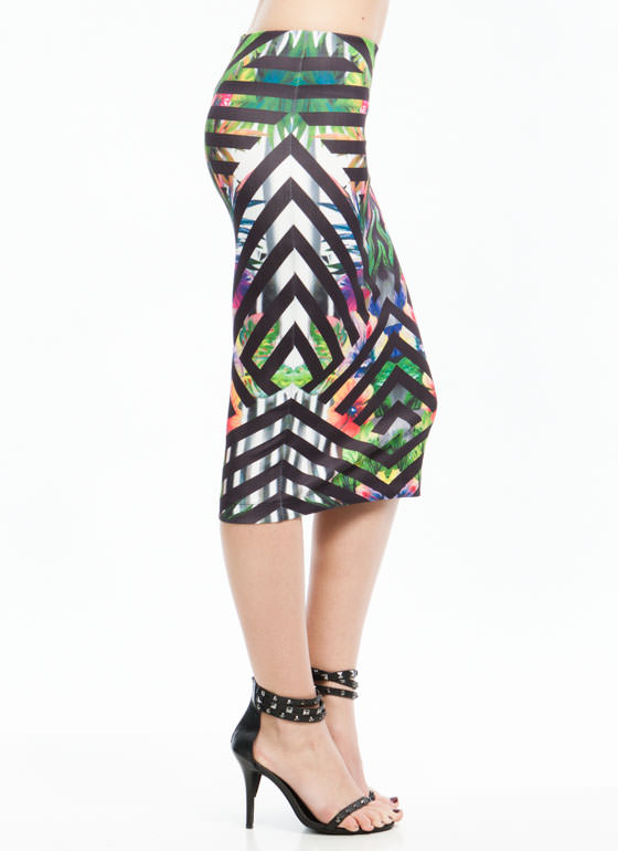 Exotic Tropic Skirt BLACKGREEN