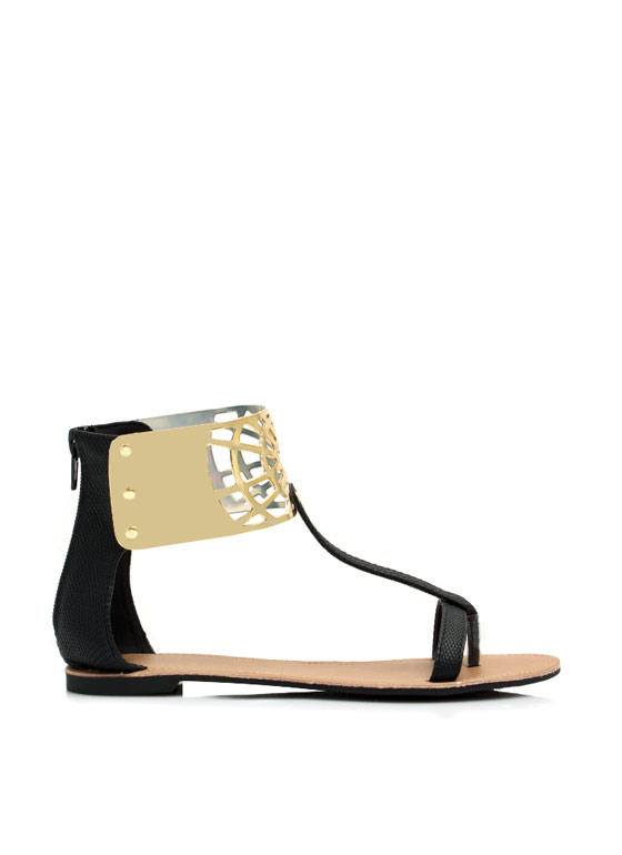 Keep Your Guard Up Sandals BLACK
