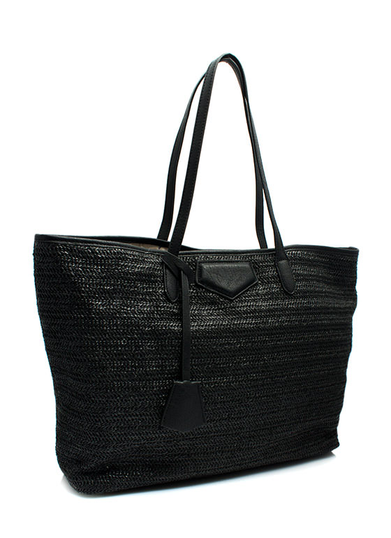 Oversized Beach Totebag BLACK (Final Sale)