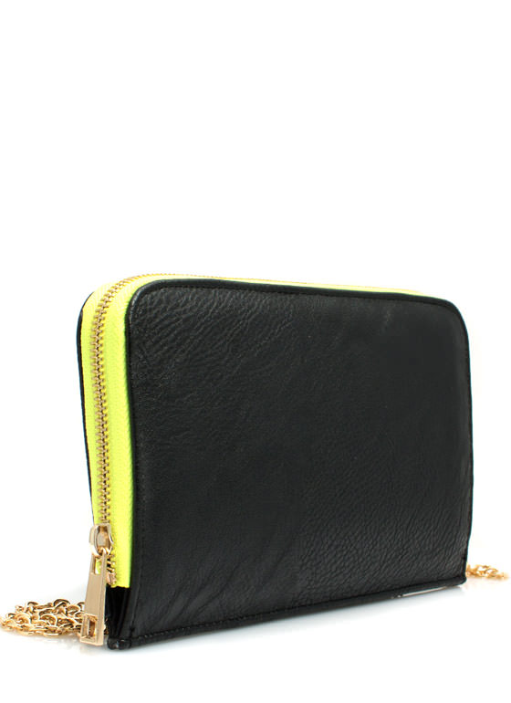 Two-Tone Wallet Clutch BLACK