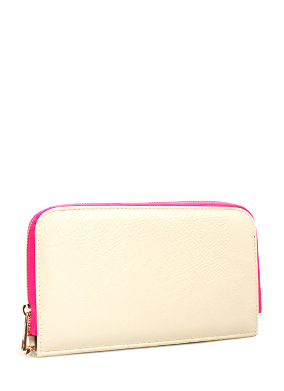 Two-Tone Wallet Clutch IVORY