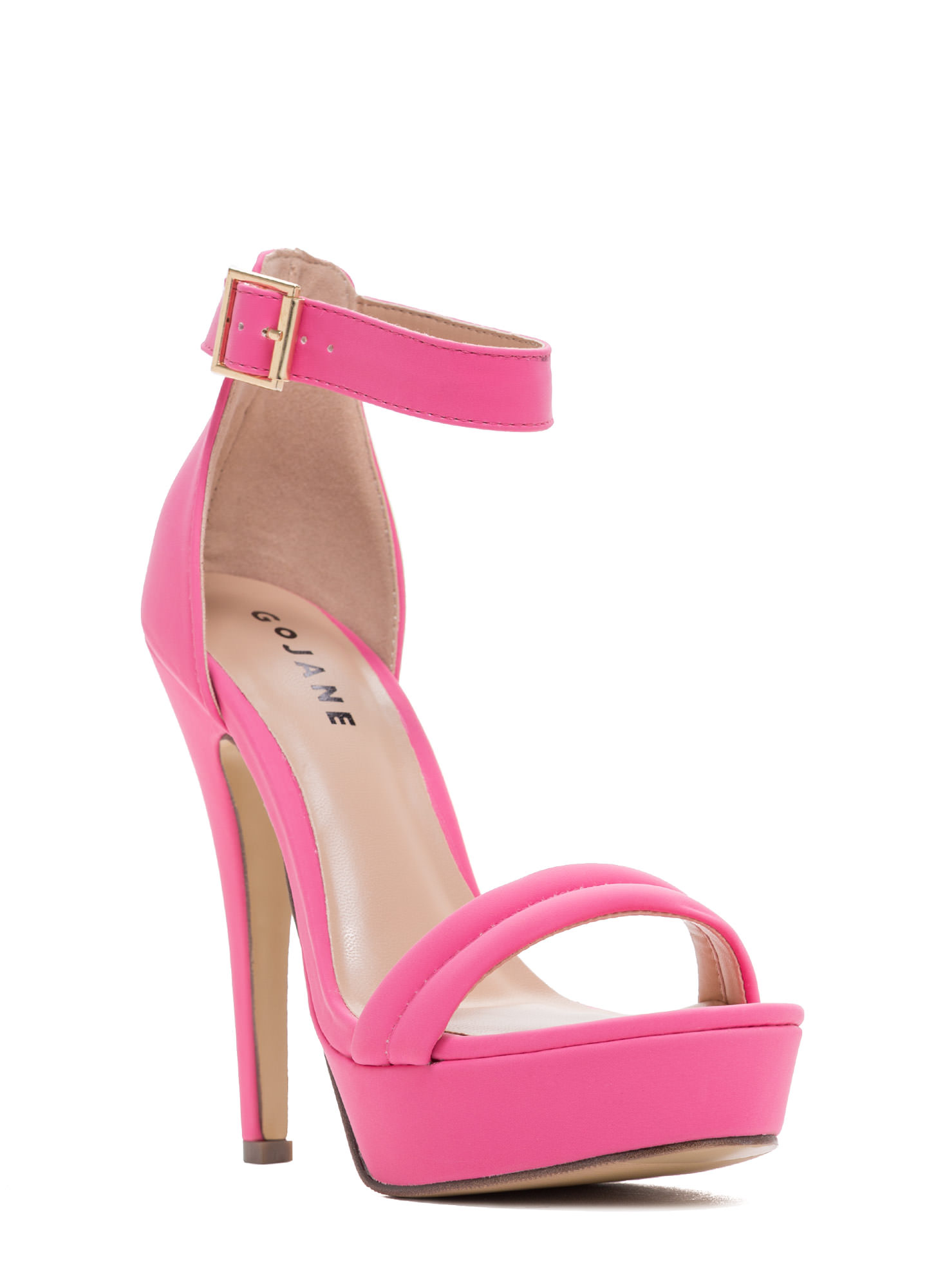 Barely There Platform Heels BUBBLEGUM