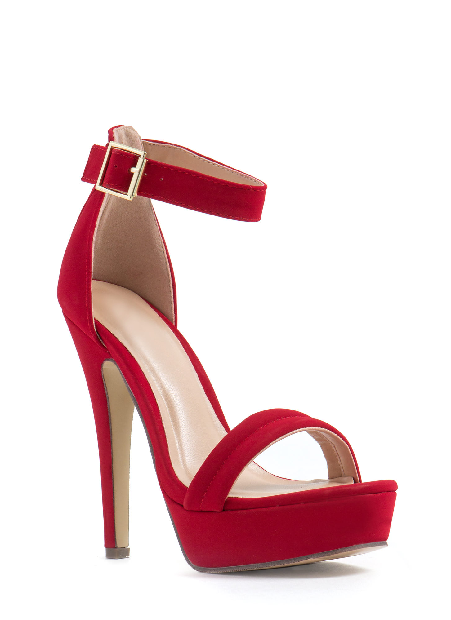 Barely There Platform Heels CRANBERRY