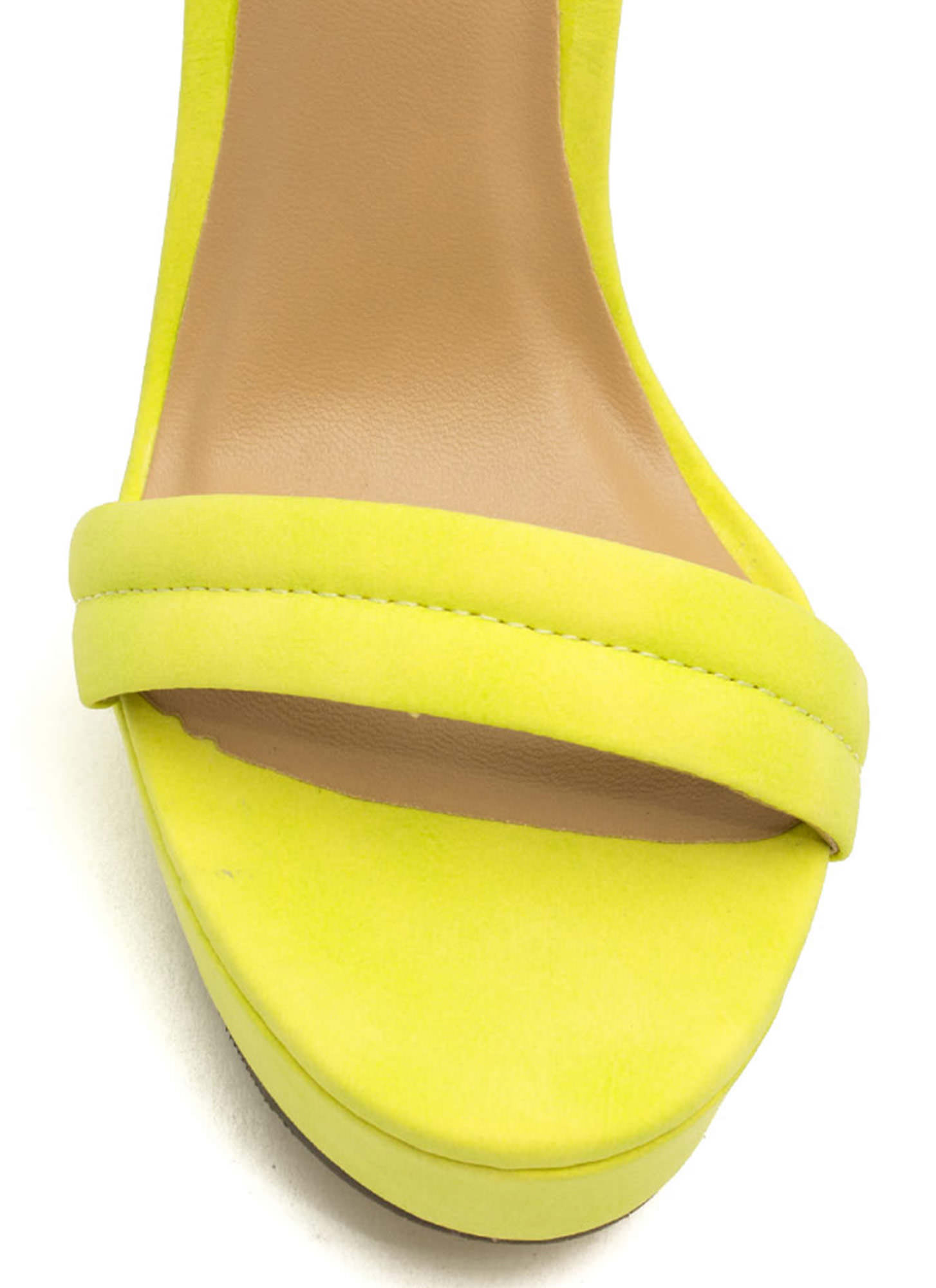 Barely There Platform Heels LIME