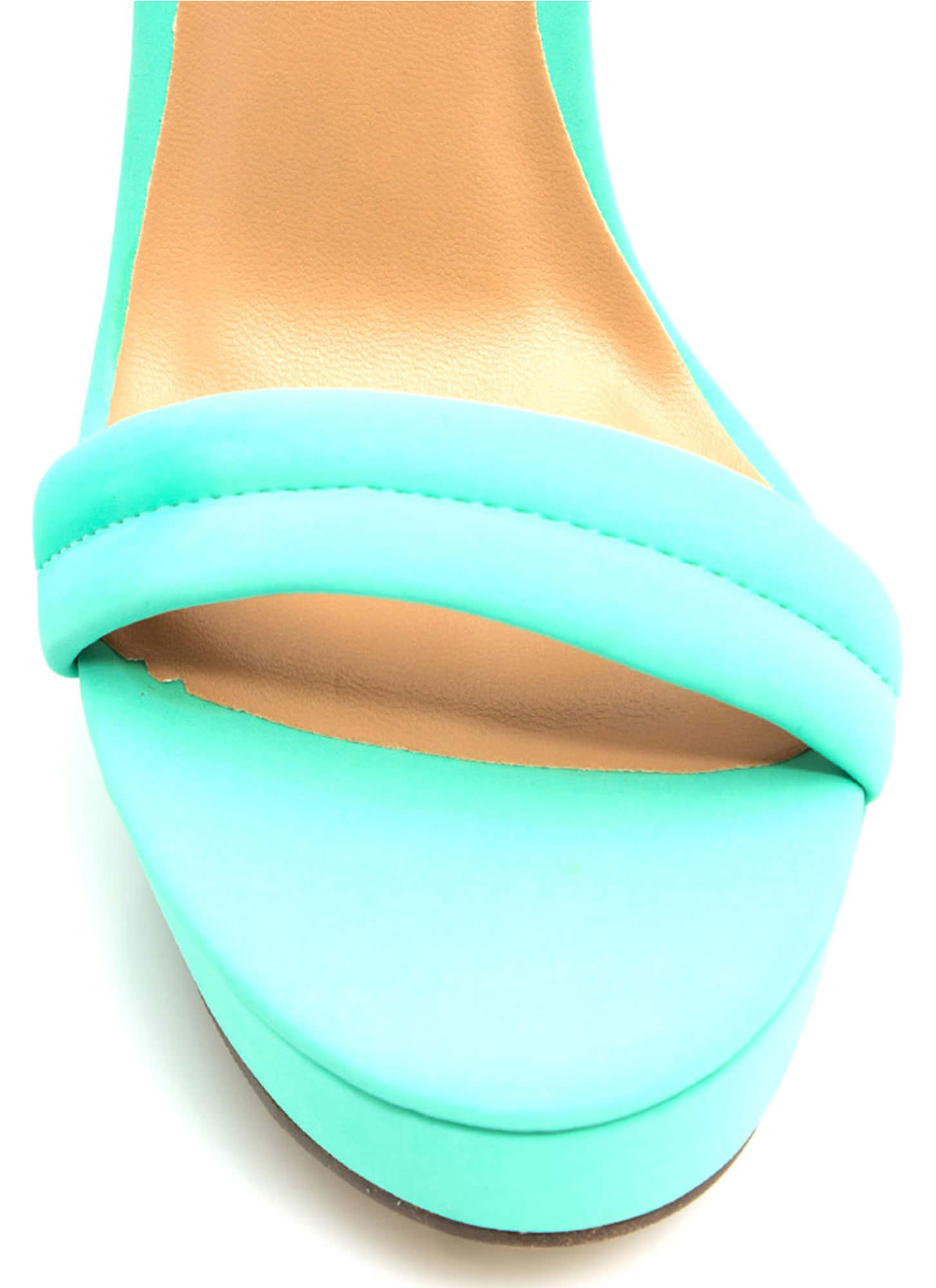 Barely There Platform Heels MINT