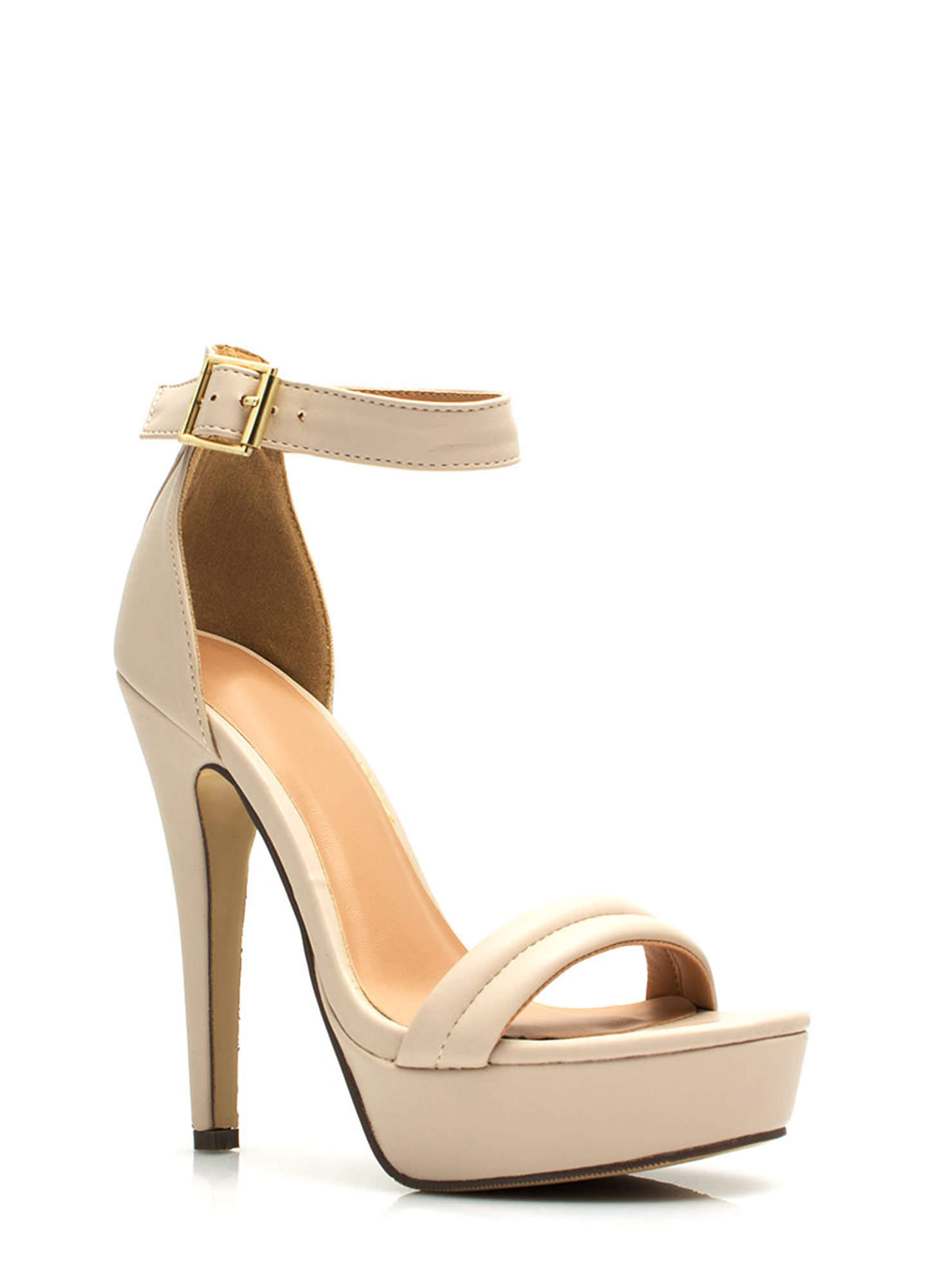 Barely There Platform Heels NUDE
