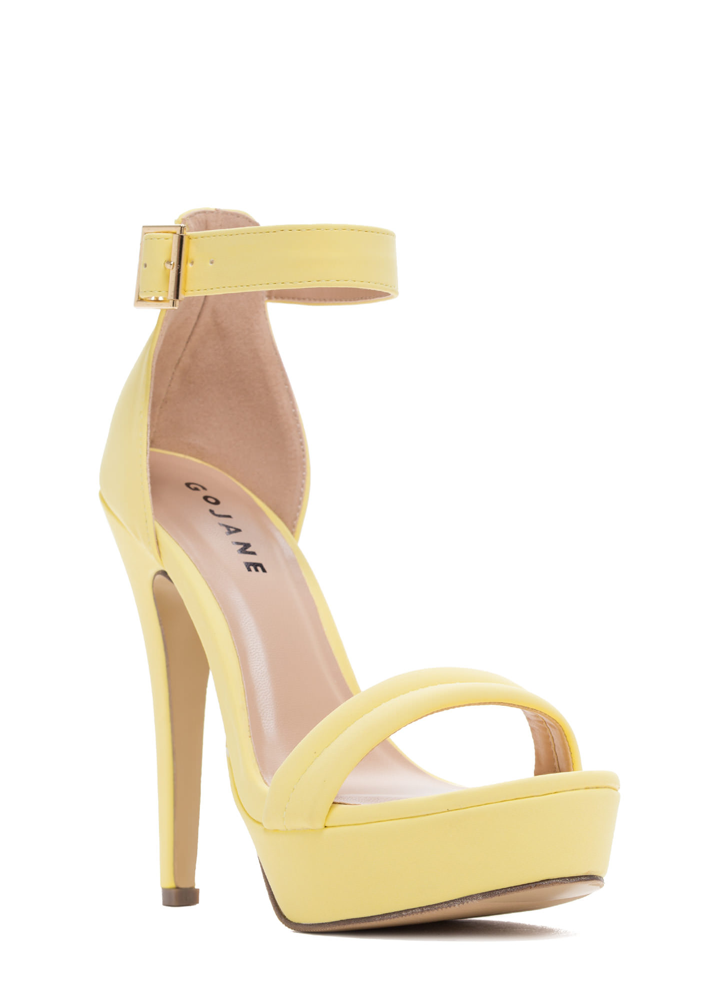 Barely There Platform Heels YELLOW
