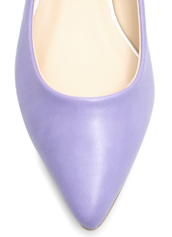 Straight Basic Pointy Flats LAVENDER