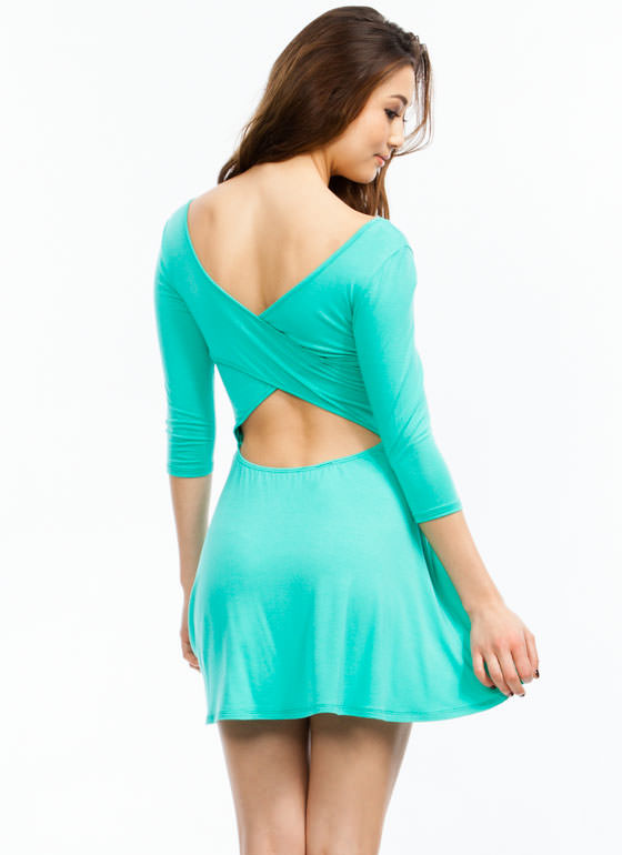 Crossing Paths Skater Dress MINT