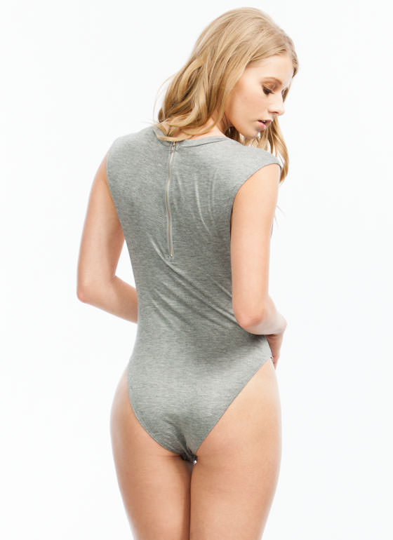 Basic Muscle Bodysuit HGREY