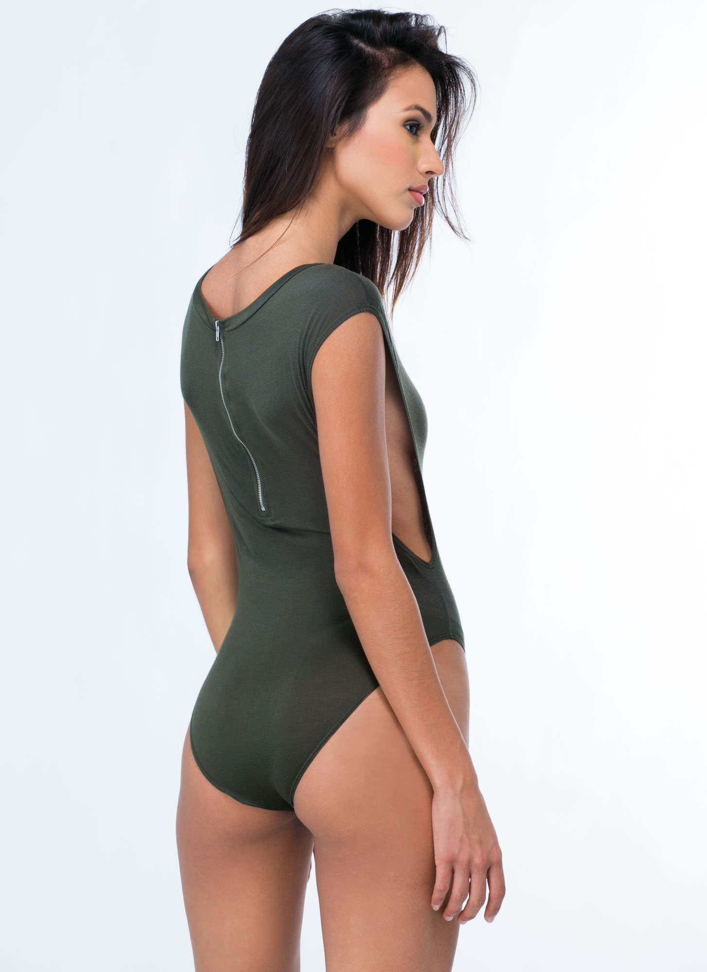 Basic Muscle Bodysuit OLIVE