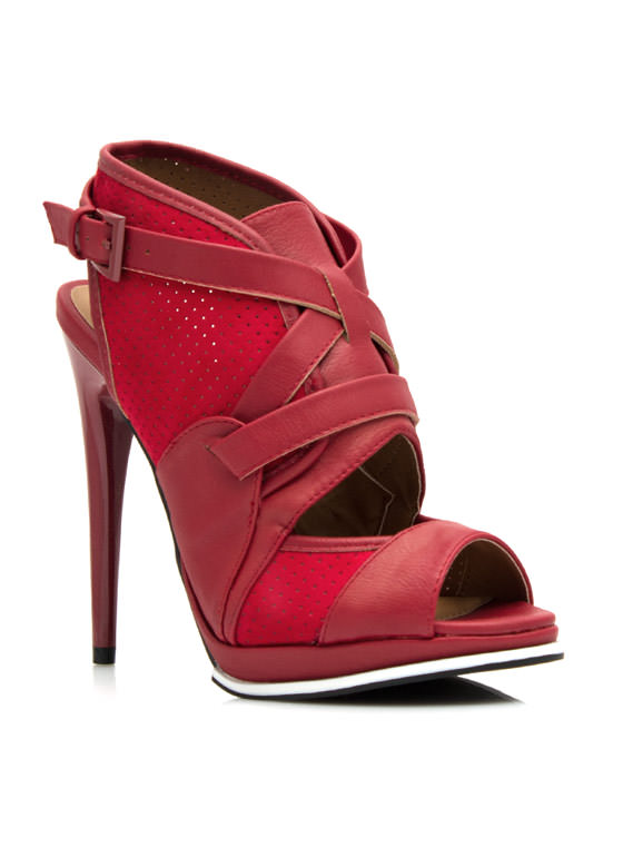 Good Sport Perforated Heels RED (Final Sale)