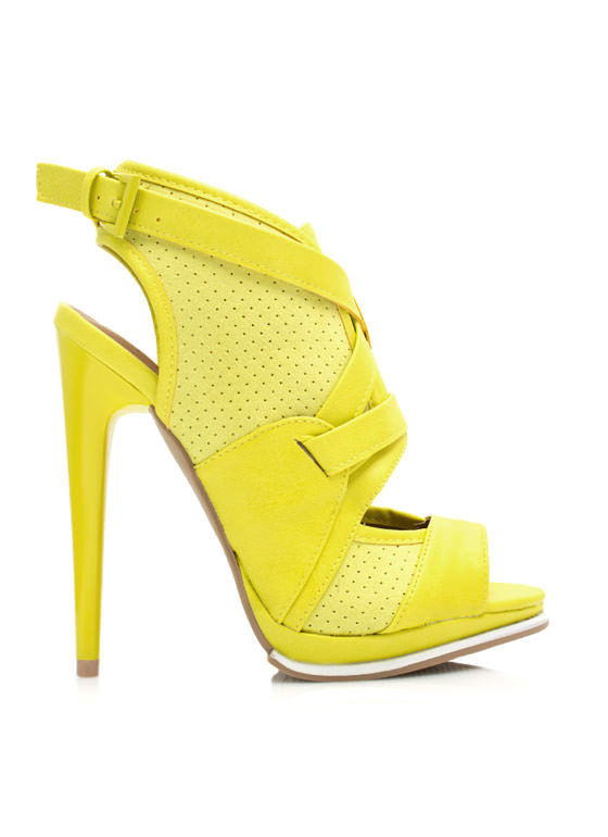 Good Sport Perforated Heels YELLOW