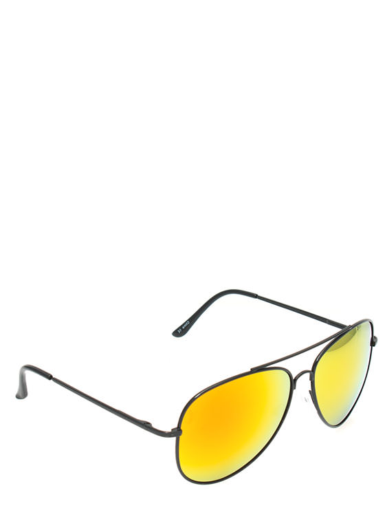 Classic Aviator Sunglasses ORANGE