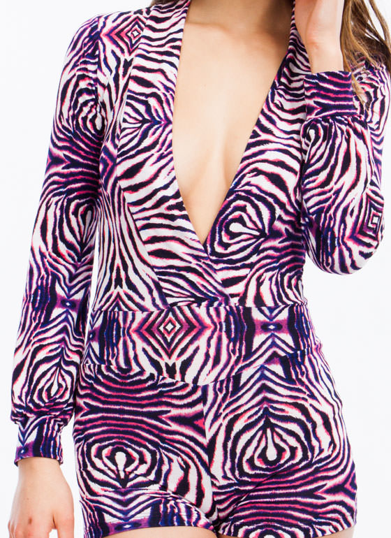 Psychedelic Animal Romper PINKPURPLE (Final Sale)