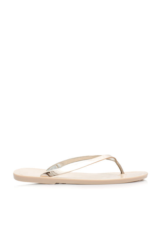 Metallic Jelly Thong Sandals NUDE