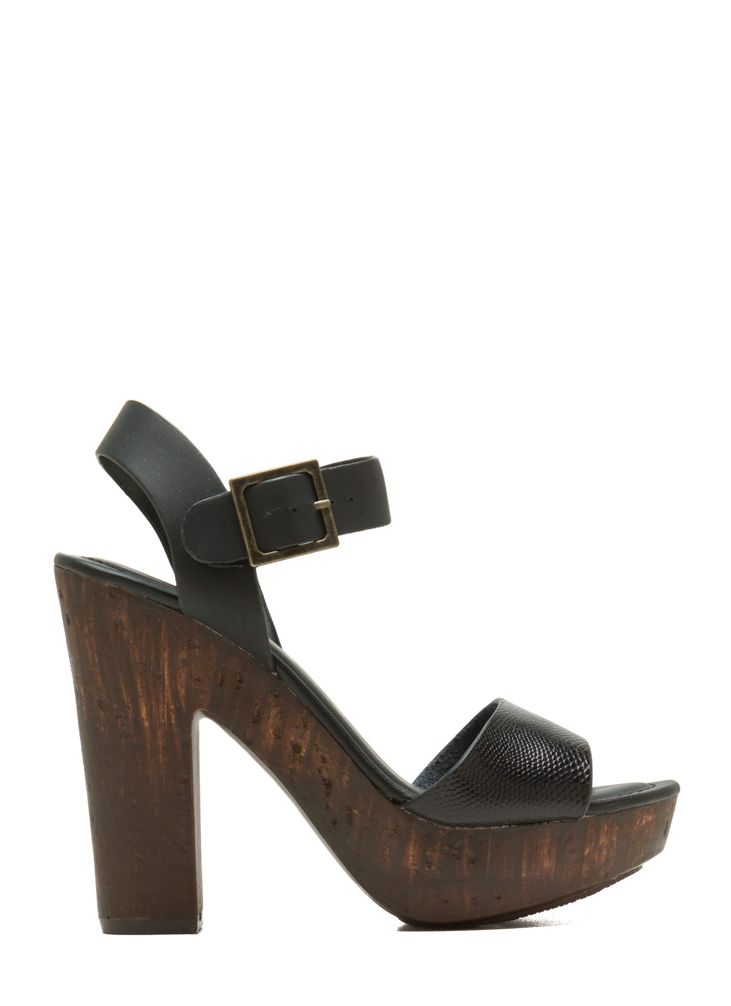 Hi Scale Chunky Faux Wood Platforms BLACK (Final Sale)