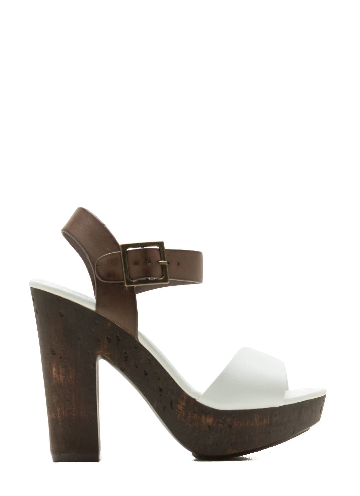 Hi Scale Chunky Faux Wood Platforms WHITE (Final Sale)