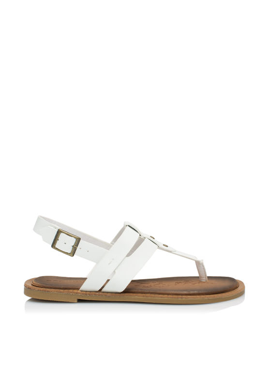 Double The Love T-Strap Sandals WHITE