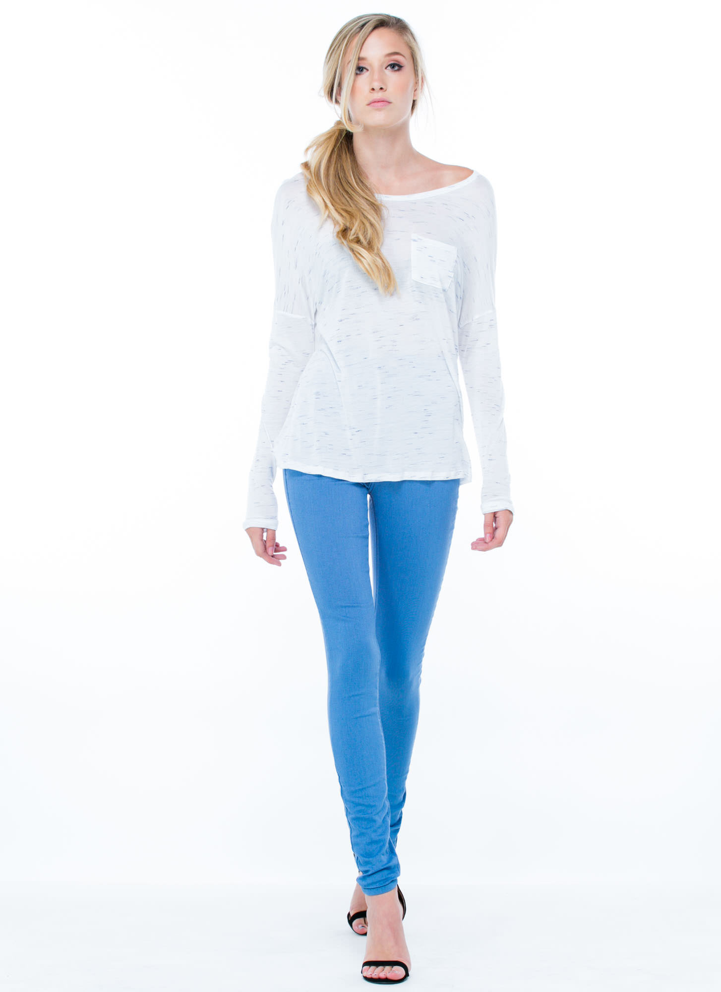 Do Me A Solid High-Waisted Jeggings BLUE