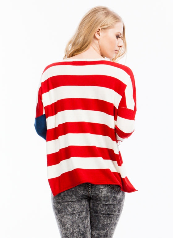 Starstruck Striped Flag Sweater REDMULTI