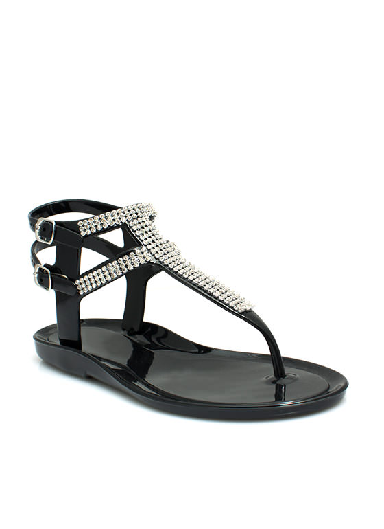 Glitz 'N Glimmer Jelly Sandals BLACK