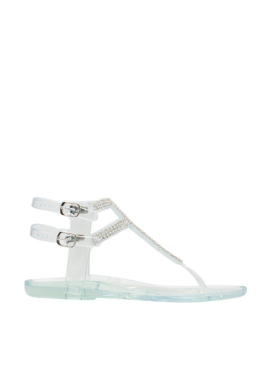 Glitz 'N Glimmer Jelly Sandals CLEAR