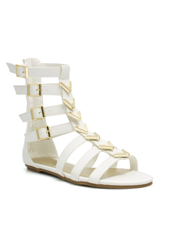 Spectacle Girl Gladiator Sandals WHITE (Final Sale)
