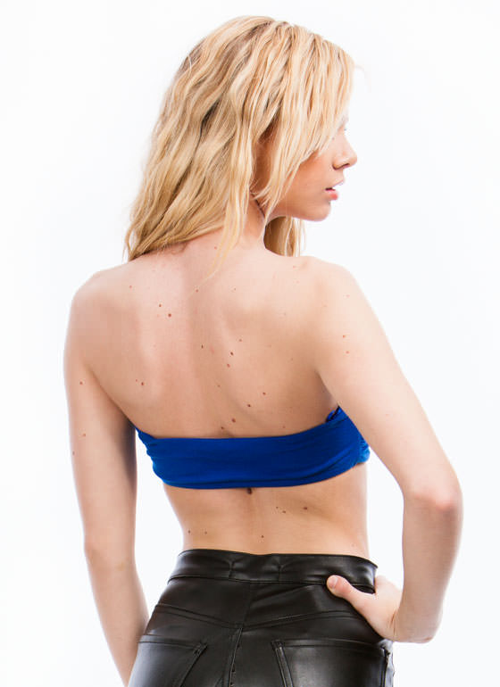 Double Cross You Cut-Out Bandeau ROYAL