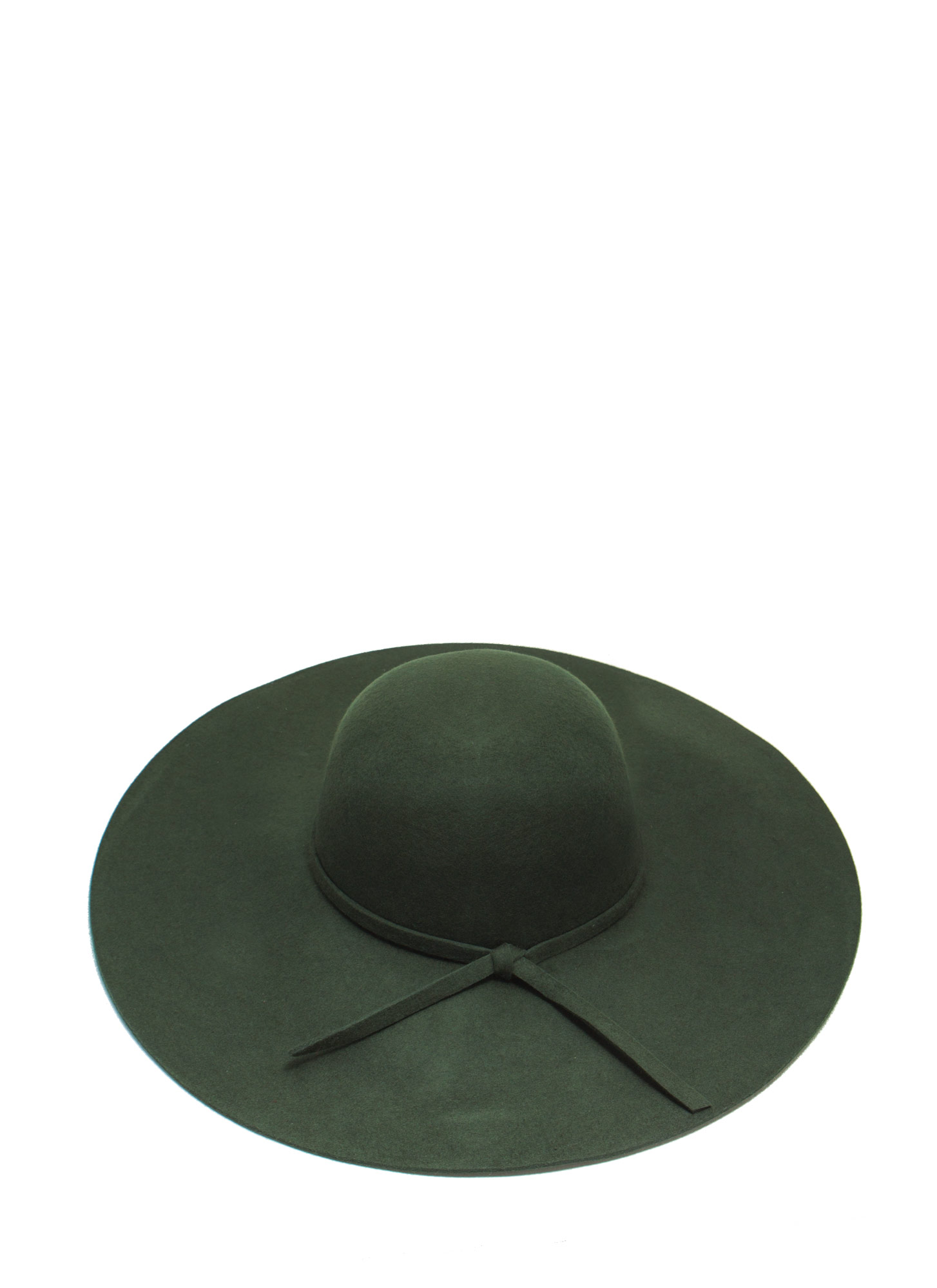 Wide Brim Wool Hat OLIVE