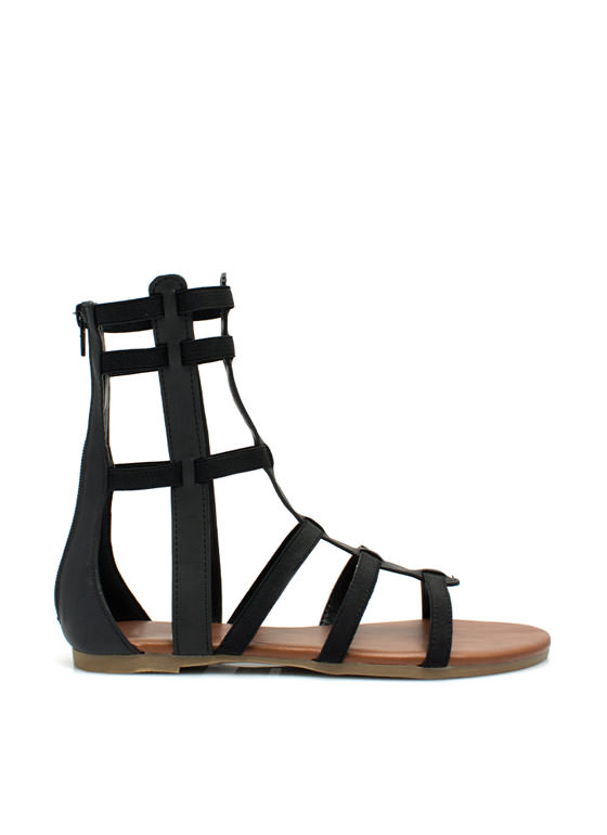 Action Packed Gladiator Sandals BLACK