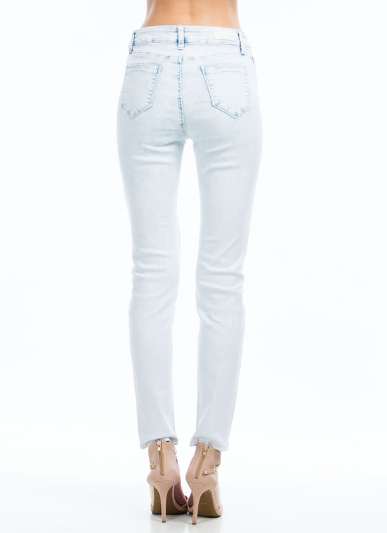 Future Is Bright Ankle Skinny Jeans LTBLUE